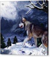 Husky - Mountain Spirit Acrylic Print