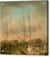Hussars Embarking At Deptford Acrylic Print
