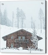 Huts And Winter Landscapes Acrylic Print