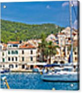 Hvar Yachting Harbor And Historic Architecture Panoramic  Acrylic Print
