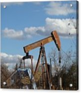 Hwy 71 Oil Well Acrylic Print