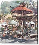 Hyde Park Market Plein Air Acrylic Print
