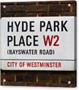 Hyde Park Place Acrylic Print