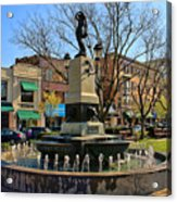 Hyde Park Square  4183 Acrylic Print
