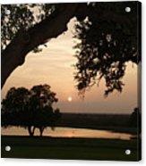 Hyde Ranch Sunset Acrylic Print
