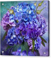 Hydrangea Bouquet - Square Acrylic Print