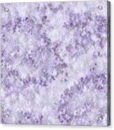Hydrangea Digital In Lilac Acrylic Print