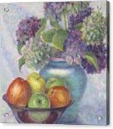 Hydrangea's And Apples Acrylic Print