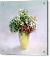 Hydrangeas In Autumn Still Life Acrylic Print