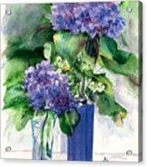 Hydrangeas In Vases Acrylic Print