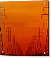 Hydro Power Lines And Towers Acrylic Print