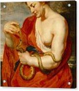Hygeia - Goddess Of Health Acrylic Print by Peter Paul Rubens