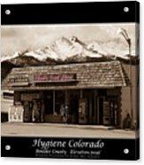 Hygiene Colorado Bw Fine Art Photography Print Acrylic Print