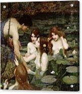 Hylas And The Nymphs John William Waterhouse Acrylic Print