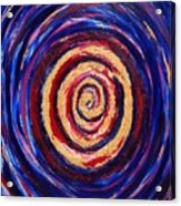 Hypnotic Gold Acrylic Print