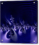 Hypnotique Blue Acrylic Print