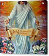 I Am The Resurrection Acrylic Print