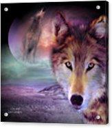 I Am Wolf Acrylic Print