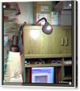 I C The Light - Use Red-cyan 3d Glasses Acrylic Print
