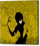 I Have A Hunch...yellow Acrylic Print