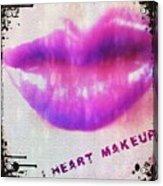 I Heart Makeup Acrylic Print