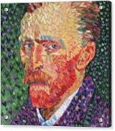 I Heart Van Gogh Portrait Of Vincent Acrylic Print