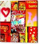I Love Barcelona Acrylic Print