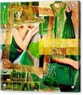I Love Green Acrylic Print