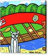 I Love My Canoe Acrylic Print