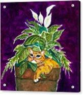 I Love My Pot Acrylic Print