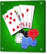 I Love Poker Acrylic Print