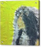 I Love That Yellow Acrylic Print