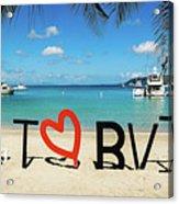 I Love The Bvi Acrylic Print