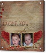 I Love You Acrylic Print by Joanne Kocwin