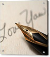 I Love You Acrylic Print