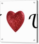 I Love You Sign On White Background Acrylic Print