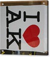 I Luv Alaska  Logo Acrylic Print