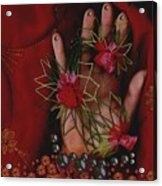 I Reach Love Peace In Life With My Hand Acrylic Print