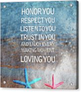 I Vow To... Acrylic Print