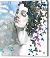I Wanted That The Problems Had Wings Acrylic Print