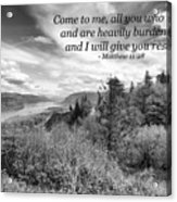 I Will Give You Rest Acrylic Print