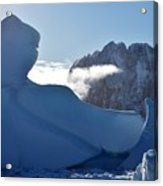 Ice And Mountain. Acrylic Print
