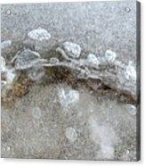 Ice And The Beach Four  Acrylic Print