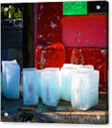 Ice Blocks By Michael Fitzpatrick Acrylic Print