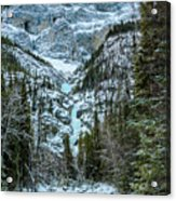 Ice Climbers Approaching Professor Falls Rated Wi4 In Banff Nati Acrylic Print
