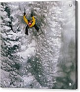 Ice Climbing In The South Fork Valley Acrylic Print by Bobby Model