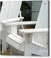 Ice-coated Chairs Acrylic Print