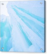 Ice Covered Mountains Good For Ice Climbing Acrylic Print