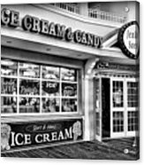 Ice Cream And Candy Shop At The Boardwalk - Jersey Shore Acrylic Print