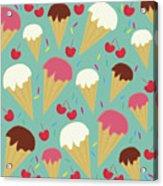 Ice Cream Cones Acrylic Print